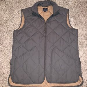 J. Crew men's quilted vest (size small)